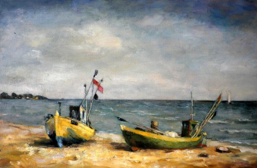 Łódki na plaży
