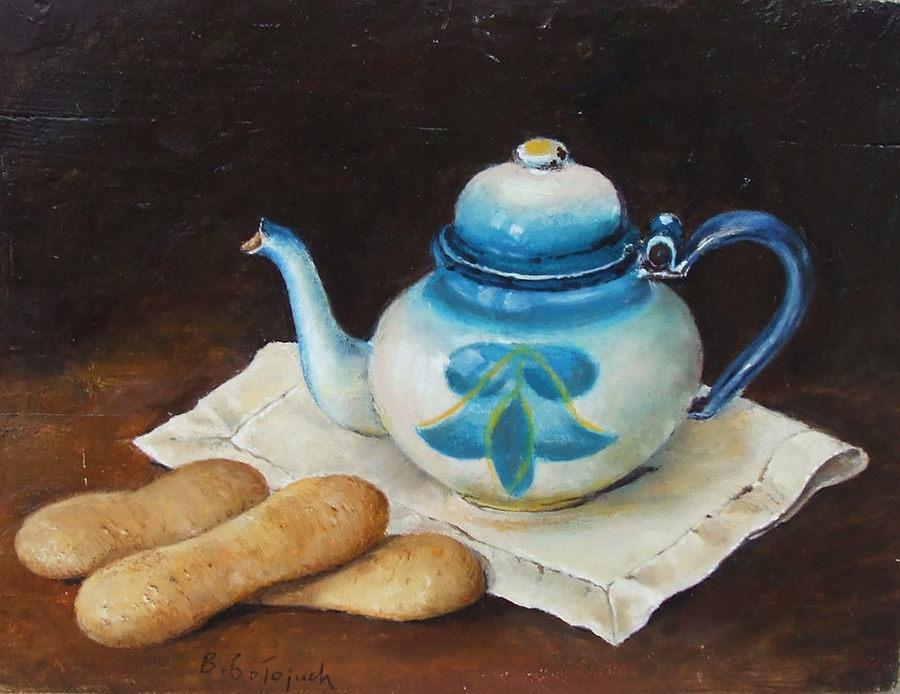 Z niebieskim czajniczkiem