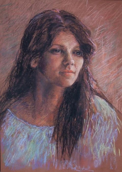 Portret dziewczyny w niebieskiej bluzce