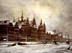 Gdańsk Motława zimą - akwarela i tempera).jpg