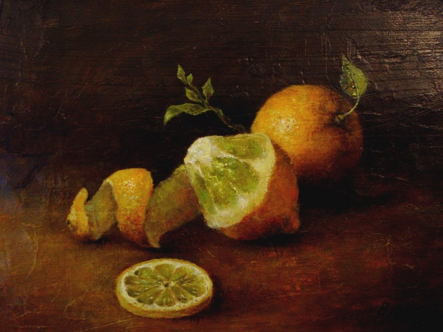 Cytryny z listkami