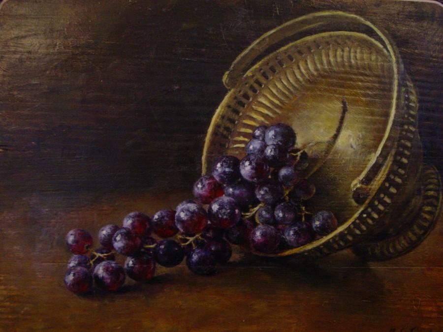 Winogrona w koszyku