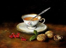 Herbata z orzechami