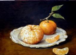 Mandarynki na talerzyku