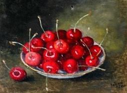 Wiśnie na talerzu