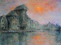 Gdańsk zachód słońca